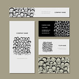 Business card, people crowd for your design
