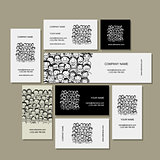 Business cards, people crowd for your design