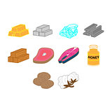 commodities icon set