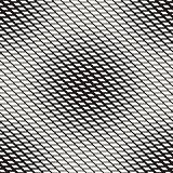 Stylish Minimalistic Halftone Grid. . Vector Seamless Black and White Pattern