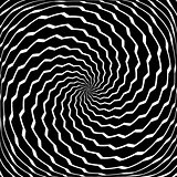 Rotation torsion movement. Zigzag lines.