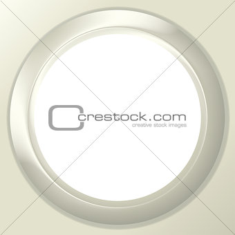 Frame porthole on white background