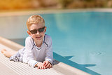 kid by the pool
