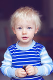 cute blond toddler
