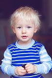 cute blond toddler