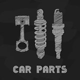 car parts illustration