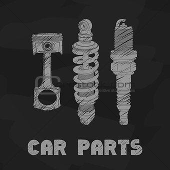 car parts illustration