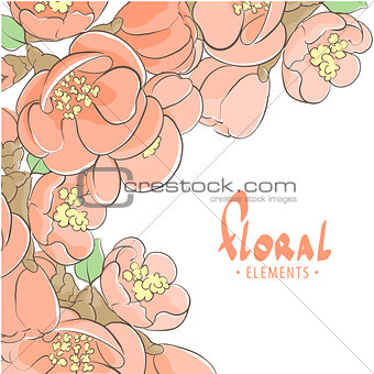 Apple tree floral background
