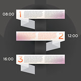 Design Infographic with Three Options.