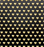 Valentine's Day Pattern with Golden Hearts.