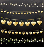 Garlands with Golden Hearts.