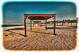 Sunshade on the Beach in Israel