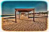 Sunshade on the Beach in Israel