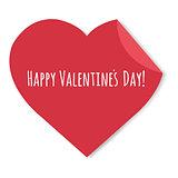 Happy Valentines Day Label