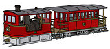Vintage steam tramway