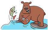 fishing bear cartoon character