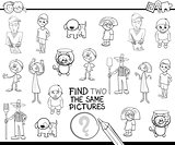 find identical pictures for coloring