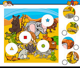 match pieces game with animals
