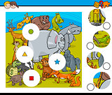 animal match pieces game