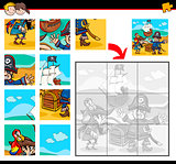 jigsaw puzzle with pirates