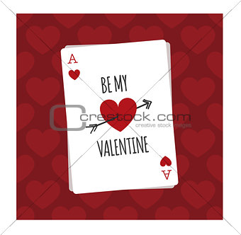 Be my Valentine playing card