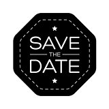 Save the Date vintage lettering
