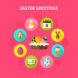 Concept Easter Greetings