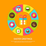 Easter Greetings Concept