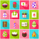Easter Holiday Colorful Icons