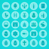 Easter Solid Circle Icons