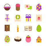 Happy Easter Holiday Objects