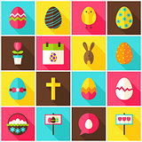 Happy Easter Colorful Icons
