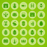 Happy Easter Solid Circle Icons