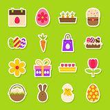 Happy Easter Spring Stickers