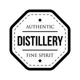 Distillery vintage logo stamp