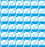 Passover seamless pattern with waves. endless background, texture. Vector illustration.