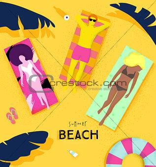 Poster summer beach