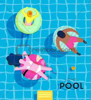 Poster summer pool