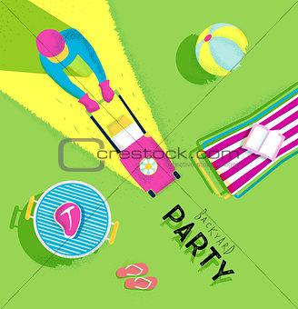Poster backyard party