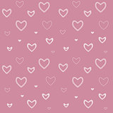 seamless pattern with mosaic valentine's hearts.