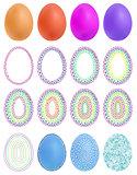 Colourful geometric mosaic design set with eggs.