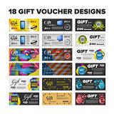 Gift vouchers set