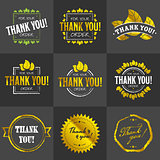 Golden Thank you badges