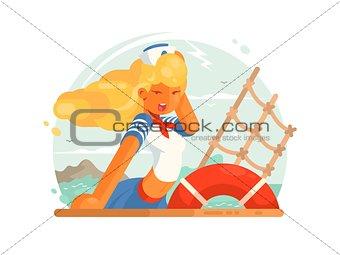 Beautiful girl sailor
