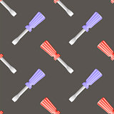 Colored Screwdriver Seamless Pattern