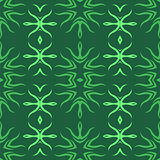 Decorative Retro Green Seamless Pattern