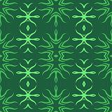 Decorative Retro Green Seamless Pattern