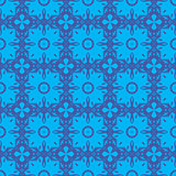 Decorative Retro Blue Seamless Pattern