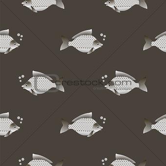 Carp Seamless Pattern