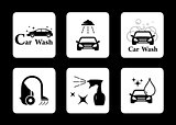 clean icon car wash symbol set